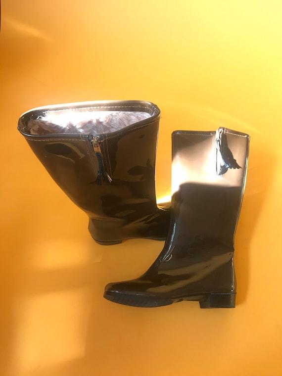 60's chocolate gogo boots