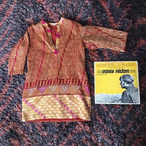 60's tapestry mini dress - image 2