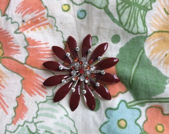70's Flower Brooch