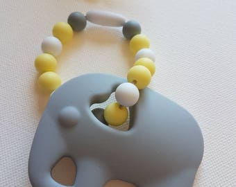 Elephant 100% non toxic Silicone bead teether for baby carrier  (SSC or wrap) or stroller