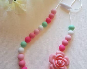 Watermelon 100% non toxic Silicone bead teething necklace Chewelry