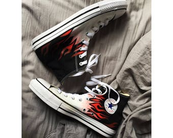 13e1bfe16c95 CUSTOMIZED HANDPAINTED SERVICE on Converse High tops Stan Smiths