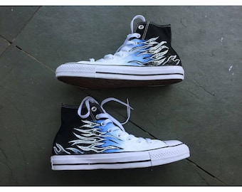blue flame converse