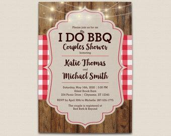 i do bbq couples wedding shower invitation digital file or printed