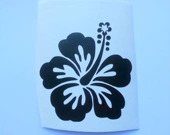 Hibiscus Flower Vinyl Decal Sticker I Yeti Cup Decal I Laptop Decal I Car Window Decal