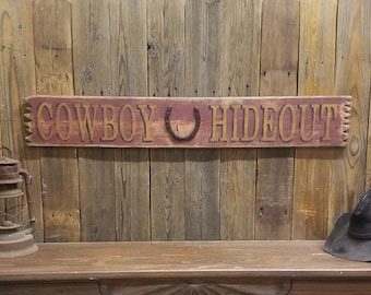 Bunk House Rustic Wood Sign Horseshoes Cowboys Western Cabin Lodge Bedroom Guest