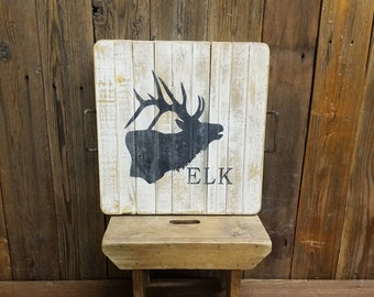 Rustic Elk Tray, Coffee Table tray, Ottoman, Table Riser, Cabin decor, Lodge, Home, Ranch, Hunting, Free Shipping