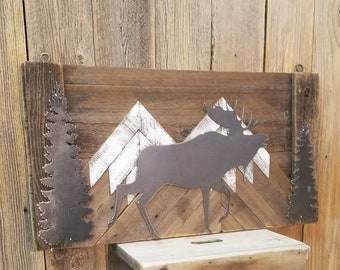 MOOSE/Rustic/Sign/Cabin/Decor/Lodge/Wood/Home/Mountains