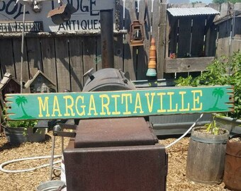 MARGARITAVILLE/ Rustic /Wood/ Sign/Tavern/Cantina/décor/Bar/Tequila/Patio
