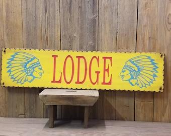LODGE/rustic/Southwest/carved wood/sign/Lodge/Native American/Chief/Arizona/DECOR