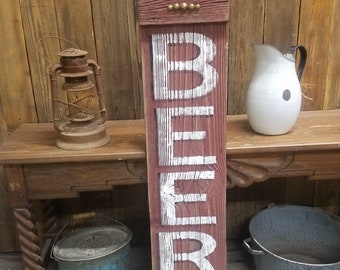 Bar sign/Tavern/BEER Rustic Wood/Man Cave/Cabin/Home decor/Barn wood
