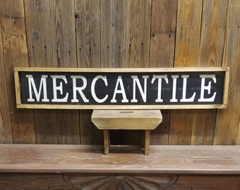 MERCANTILE Sign Farmhouse Sign Farmhouse decor Rustic Wood Sign Vintage Store Sign Farmers Market