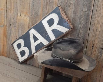 BAR Rustic Engraved Wood Sign/Beer/Drinking/ Man Cave/Tavern/Bar décor/