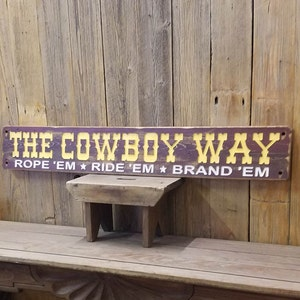 Ranch decor Old West Western Bunk House COWBOY HIDEOUT Rustic Wood Sign