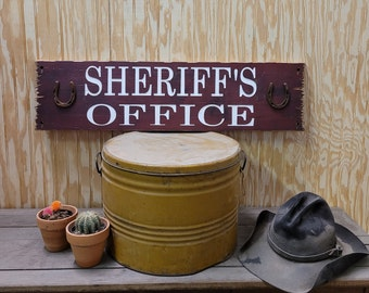 Sheriff's Office Rustic Carved Wood Sign, Western décor, Bunk House, Cowboys, Cowgirls, Distressed Wood Signs, Old West, Home Décor