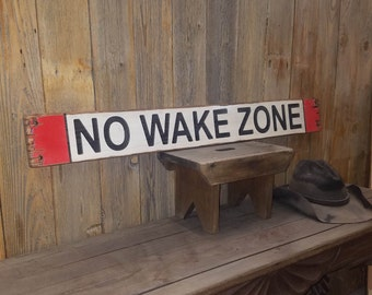 No Wake Zone, Rustic Wood Sign, Lake décor, Boat Dock sign, Baby Nursery, Bedroom Wall décor, Marina, Engraved Wood
