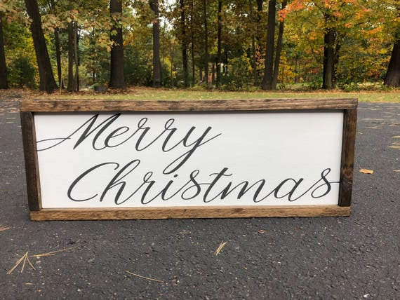 image 0 - Merry Christmas Wooden Sign