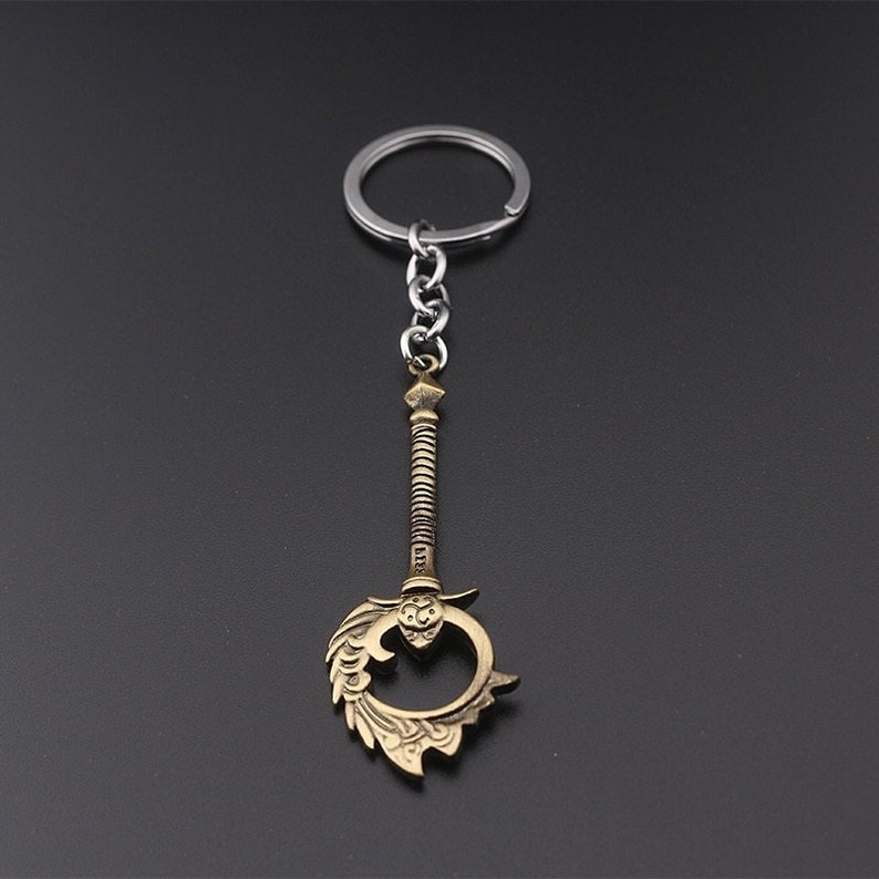 League of Legends Nami Weapon The Tidecaller inspired Keychain Bronze