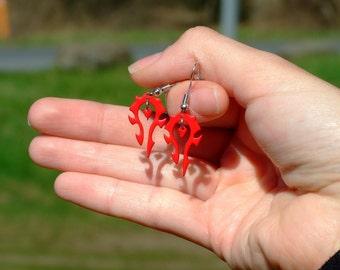 World of Warcraft Red Horde Emblem inpired Earrings