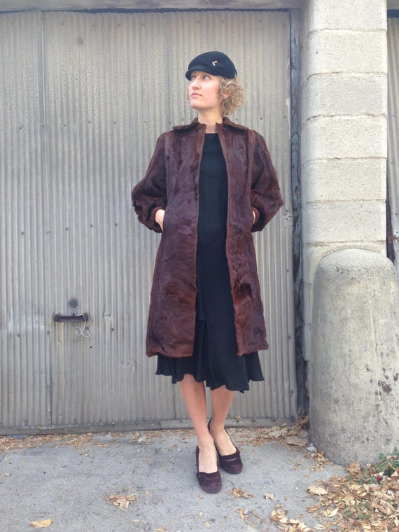 Vintage 1920s Incredible Beaver Fur Coat