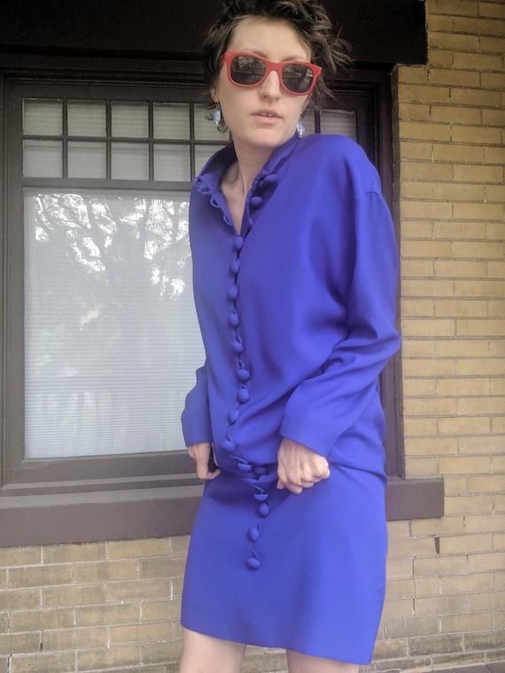Vintage 80s Designer Arnold Scaasi Dress Rare - image 2