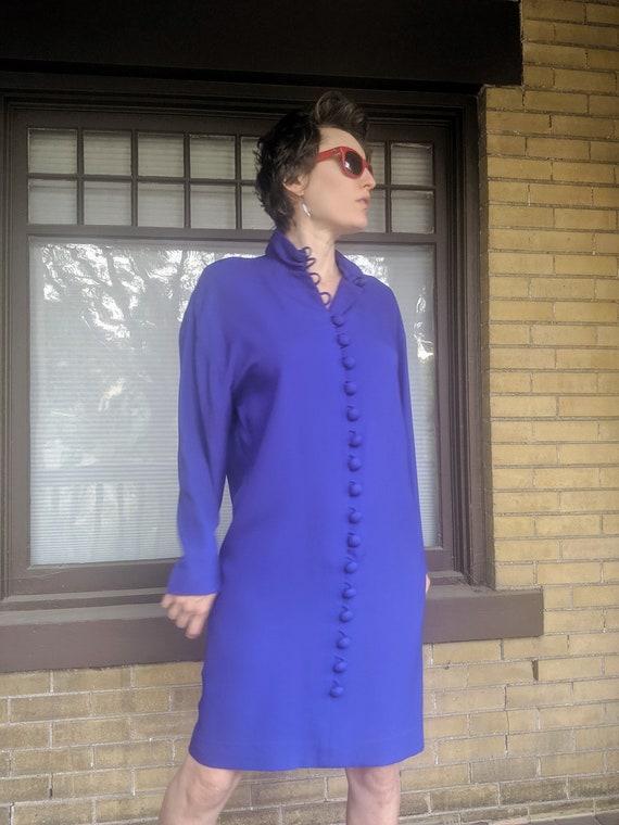 Vintage 80s Designer Arnold Scaasi Dress Rare - image 3