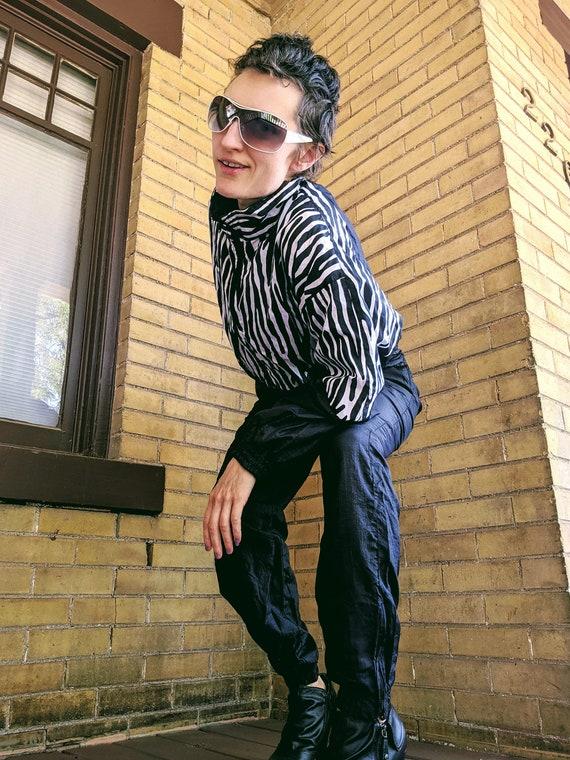 "80's Zebra Print ""Celebrity"" Track Suit"