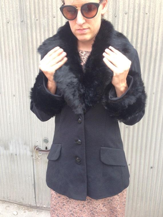 Vintage 1960s Lilli Ann Knit Winter Jacket