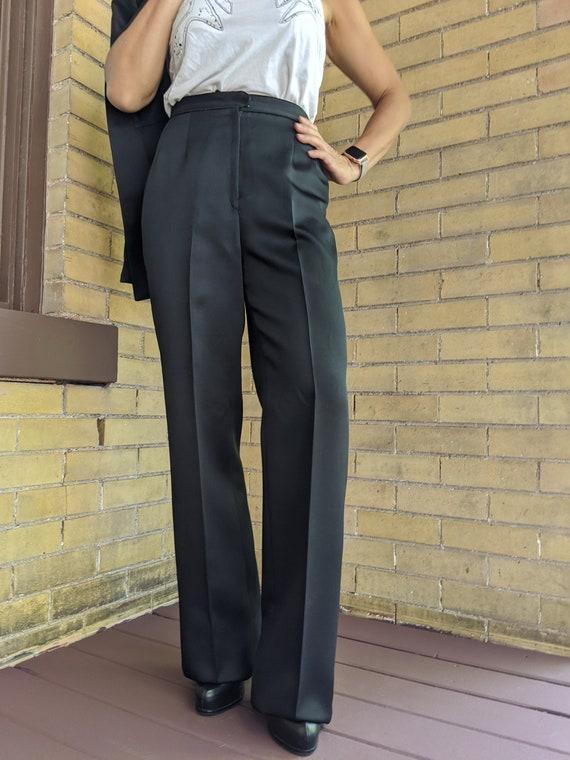 Vintage 80s Asian Style Sleek Black Pant Suit - image 2
