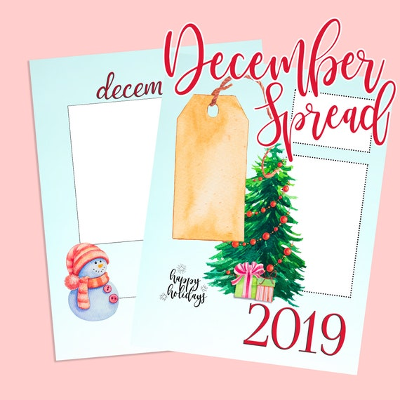 Christmas Date.Christmas 2019 Event Gift Date Tracker List Chart Keeper Monthly Layout Undated Classic Big Vertical Happy Planner Insert P0014