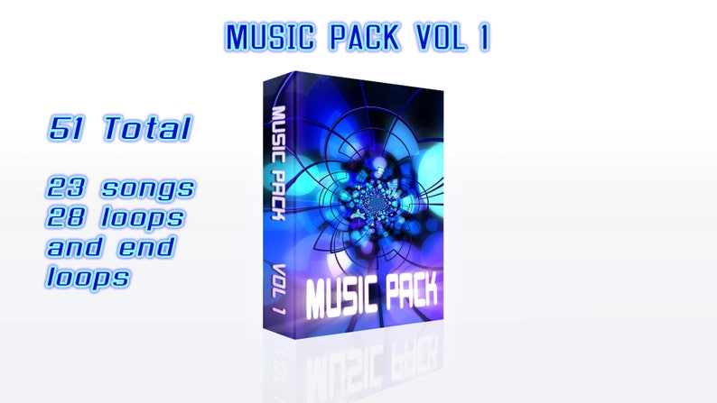 Royalty Free Songs and Loops, 51 sounds in total, 23 songs and 28 loops,  rock, modern, cool, beats and more, great for content creators