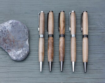 Turned Wood Pen : Red Maple