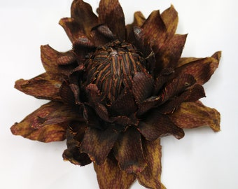 flower brooch with hair clip