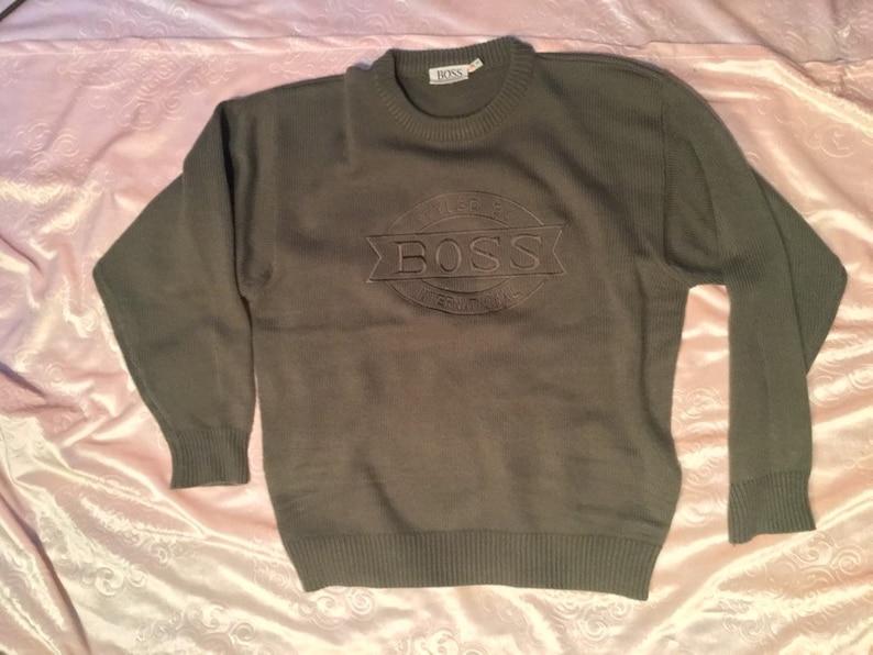 06393356 Vintage 90's BOSS International Knit Cotton Pullover | Etsy