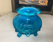 Antique Blue Sowerby Vase