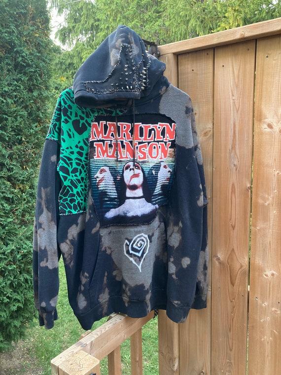 Custom Marilyn Manson Hoodie XL
