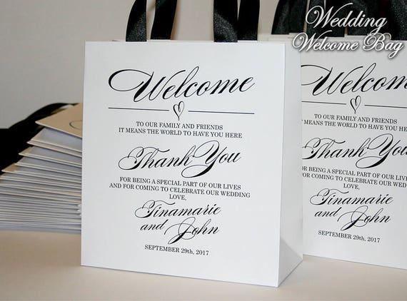 Welcome Wedding Gift Bags: 25 Black & White Wedding Welcome Bags Wedding Gift Bags