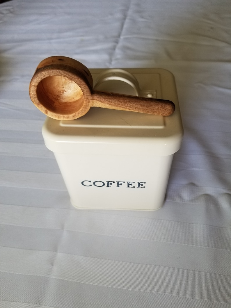 Hand Carved Wooden Coffee Scoop