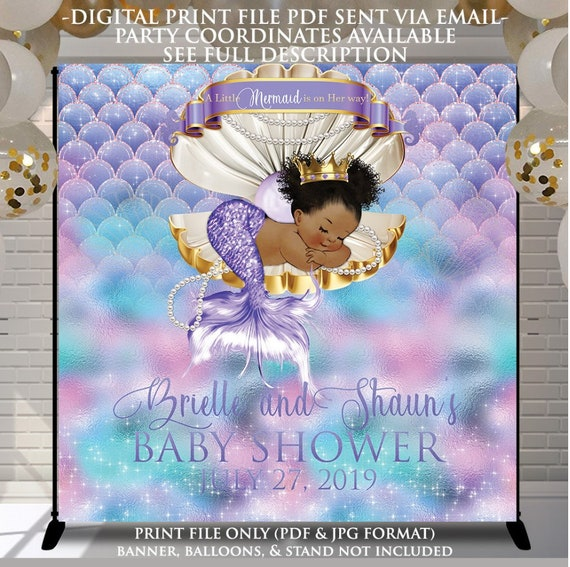 Babyshower Event Poster Poster Design File DIY Print Yourself Turquoise Blue and Green Welcome to sign Any Event type Custom Print File