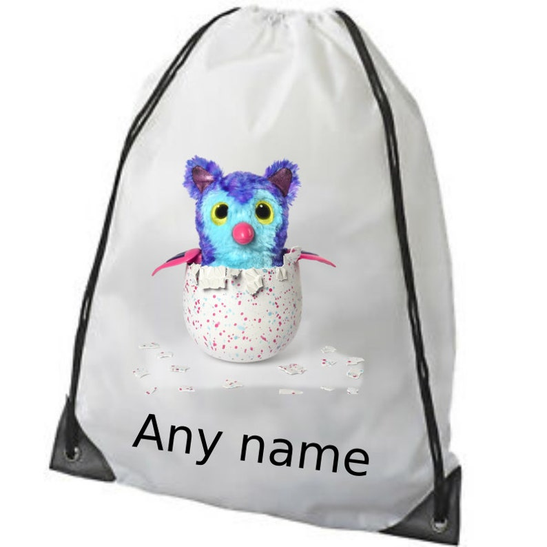 Personalised Name Owl Gymsac Customised Printed Girls Bag School PE Dancing