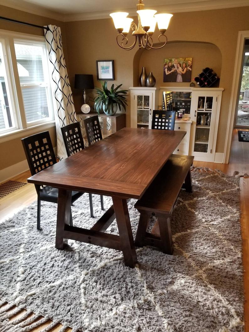 Farmhouse Table, Solid Wood, Farmhouse Dining Table, Farmhouse Kitchen  Table, Harvest Table