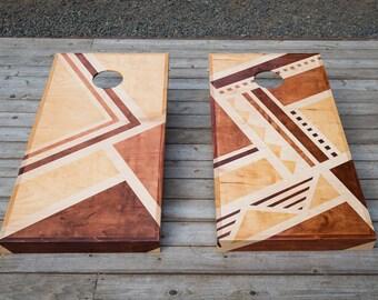 Custom Made Cornhole Board Set | Stained | Corn Toss | Bag Toss