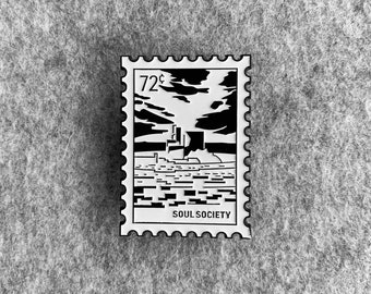 Bleach Stamp Enamel Pin