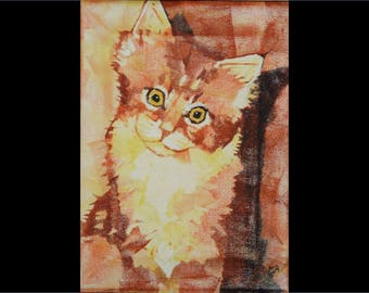 Orange Tabby (canvas print)