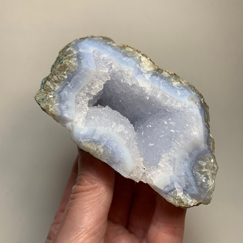 4.1 BLUE CHALCEDONY Crystal  Raw Natural Mineral image 0