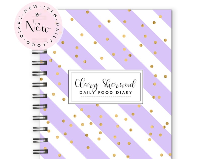 Daily Food Diary Planner Notebook Food diary Food Planner image 0