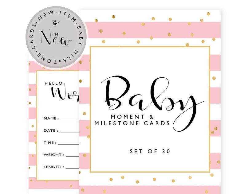 Baby Milestone Cards Baby shower gift New Baby Gift Baby image 0