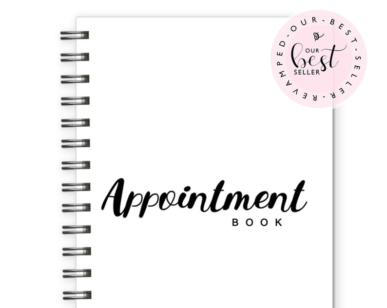 Daily Appointment Planner Notebook salon appointment spiral image 0