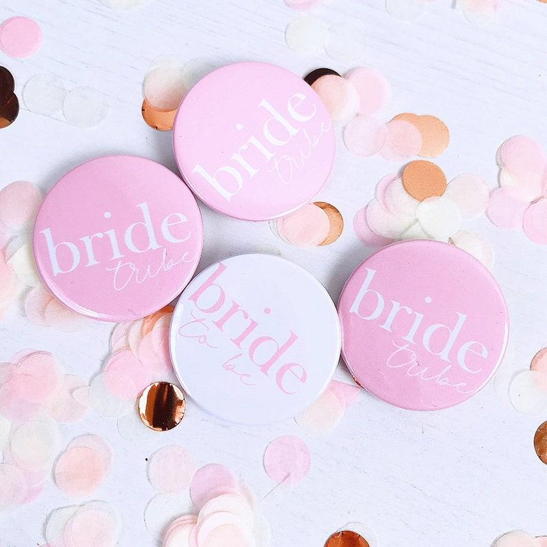 Bride Tribe Button Bride BadgeHen Party Bride Tribe Badge image 0