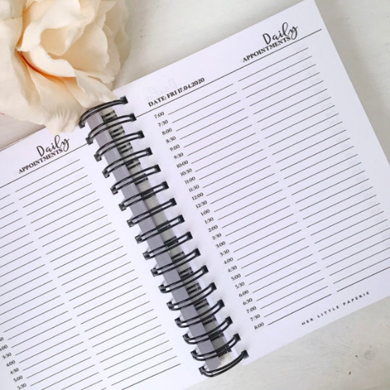 12 Month Dated Daily Appointment Planner Notebook salon image 0